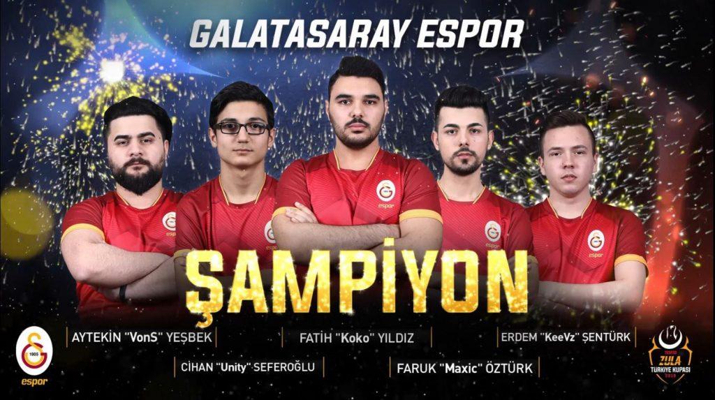 TESFED Zula Türkiye Kupası Şampiyonu Galatasaray Espor